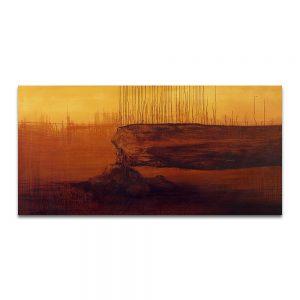 Adán. Técnica mixta sobre lienzo. 97 x 195 cm.
