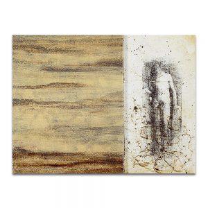 Adán. Técnica mixta sobre madera y lienzo. 35 x 45 cm.