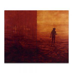 Adanecer. Técnica mixta sobre madera y lienzo. 162 x 195 cm.