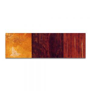 Amarilla antorcha de memoria. Técnica mixta sobre madera. 18x55 cm.