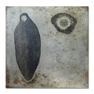 Brut # 1_3 Aguafuerte sobre plancha de hierro. 40x40x0,5 cm.