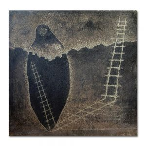 Brut # 1_5 Aguafuerte sobre plancha de hierro. 40x40x0,5 cm.