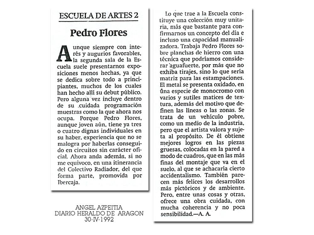 Crítica exposición Ozono en Heraldo de Aragón
