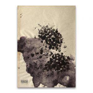 Cru # 2.Técnica mixta sobre papel. 41×31 cm.