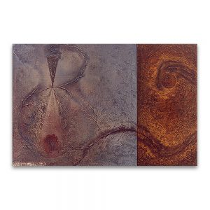 1993: II CERTAMEN DE PINTURA FUNDACION NUEVA EMPRESA. Premio Joven Pintor Aragonés. Doble albor. Técnica mixta sobre lienzo. 100×150 cm.