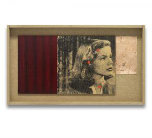 El sueño eterno # 3. Monotipo, pintura y collage sobre madera y cobre. 28×50 cm.
