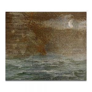 Eva océana. Técnica mixta sobre madera. 46 x 55 cm.