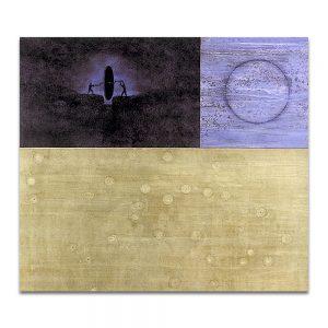 1999: ZARTE, I PREMIO CIUDAD DE ZARAGOZA. Accésit. Evo. Técnica mixta sobre madera. 172x195 cm.