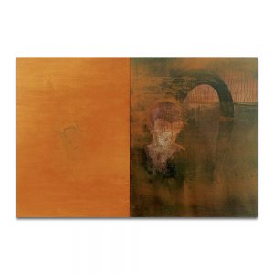 Génesis del verbo. Técnica mixta sobre madera y lienzo. 100×151 cm.