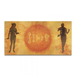 Humana Lux (tríptico). Técnica mixta sobre madera. 195 x 389 cm.