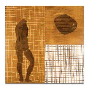Imagen y semejanza. Técnica mixta sobre madera. 92 x 92 cm.
