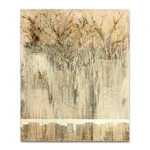 Jardín vertical. Técnica mixta sobre lienzo. 73×60 cm.