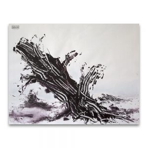 Latencia # 2.Técnica mixta sobre papel. 50×65 cm.