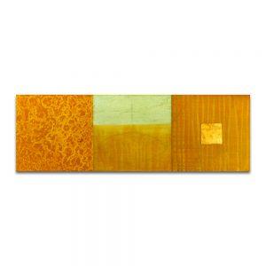Litoconsorcio III. Técnica mixta sobre madera y cobre. 30x90 cm.
