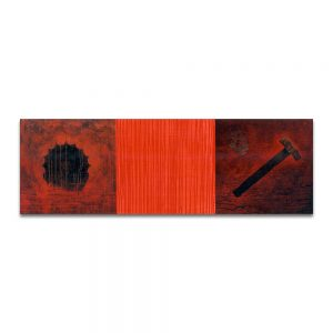 Martes todos los días. Técnica mixta sobre madera. 46x138 cm.
