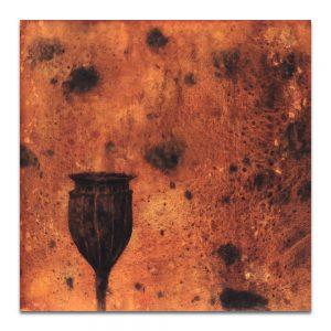 Opio, vigía místico. Técnica mixta sobre madera. 40x40 cm.