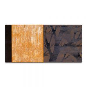 Pasa el tiempo, agujas.Técnica mixta sobre madera y papel. 60x120 cm.