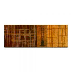 Preguntas y respuestas. Técnica mixta sobre madera. 50x146 cm.