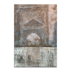 Puerta adentro, puerta afuera. Técnica mixta sobre lienzo. 73×60 cm.