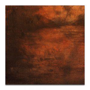 Retrato de aguas III. Técnica mixta sobre madera. 40x40 cm.