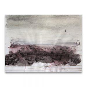 Viñedo # 1.Técnica mixta sobre papel. 50×65 cm.