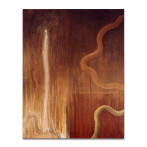 Vuelo del aroma de opio. Acrílico sobre lienzo. 146×114 cm.