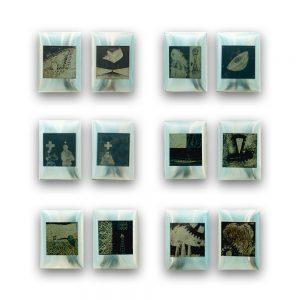 BRUT # 1. Módulos de planchas litográficas 10x10cm y planchas de aluminio 18x13 cm.