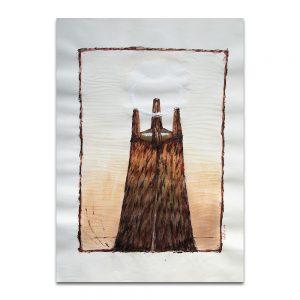 Corona. Técnica mixta sobre papel. 45×32 cm.