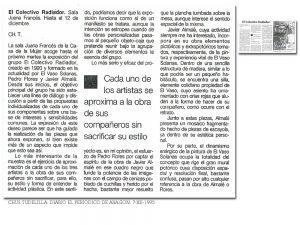 Crítica de la exposición Retratos en El periódico de Aragón