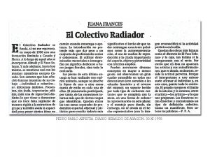 Crítica de la exposición Retratos en Heraldo de Aragón