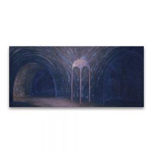 Cúpula áurea.Acrílico sobre lienzo. 75x150 cm
