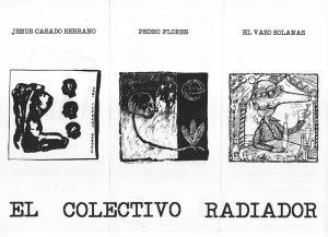 Tríptico de la exposición CABEZAS, VASOS, HOJAS.