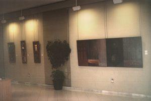 Vista de la exposición Obra reciente en CMIC de Zuera