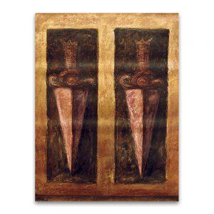 Espadas como sentimientos . Técnica mixta sobre lienzo.61x46 cm
