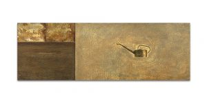Istmos # 3. Técnica mixta sobre madera, aguafuerte sobre hierro. 40x120 cm.