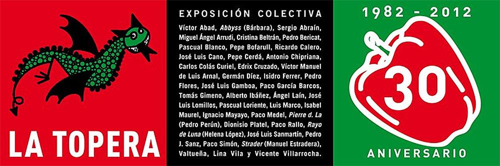 Invitación exposición colectiva La Topera