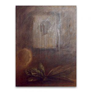 Oros y laureles .Técnica mixta sobre lienzo. 55x46 cm