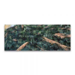Paisaje con troncos. Técnica mixta sobre papel. 20x50 cm.