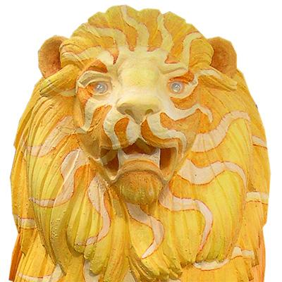 El león como símbolo pintado