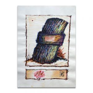 Unión. Técnica mixta sobre papel. 45×32 cm.
