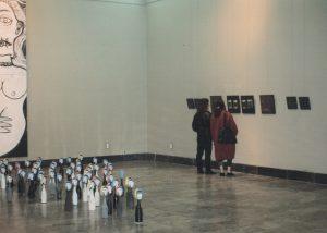 Vista de la instalación BRUT # 1 en la sala Juan José Gárate del Museo de Zaragoza.