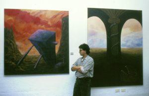 Vista exposición Lucernario. UNED Calatayud.
