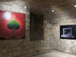 Vista exposición Oniros en galería Demodo gráfico
