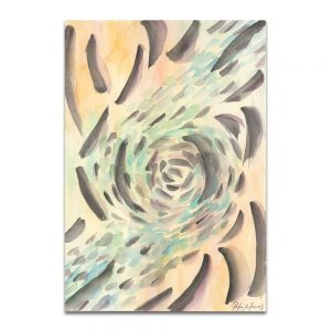 El final de la noche, 1983. Acuarela sobre papel. 30x21 cm.