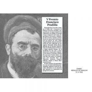 1992: V Concurso Pintura Fco. Pradilla, Ayto. Villanueva Gállego. Accésit.