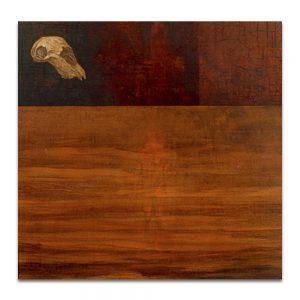 Adanescencia (vanitas). Técnica mixta sobre madera. 120×120 cm.