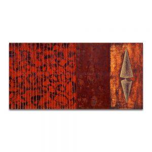 Adrenalina. Técnica mixta sobre madera. 40x80 cm.