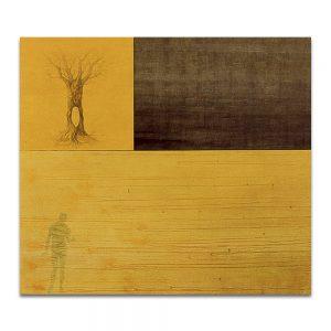 Almíbar. Técnica mixta sobre madera y lienzo. 172 x 195 cm.