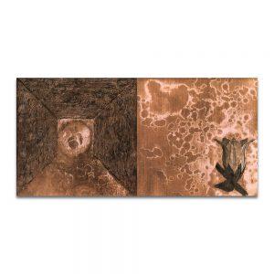 Aroma de campanas. Técnica mixta sobre madera. 40x80 cm.