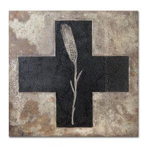 Brut # 1_Cruz_Espiga Aguafuerte sobre plancha de hierro. 25x25x0,5 cm.